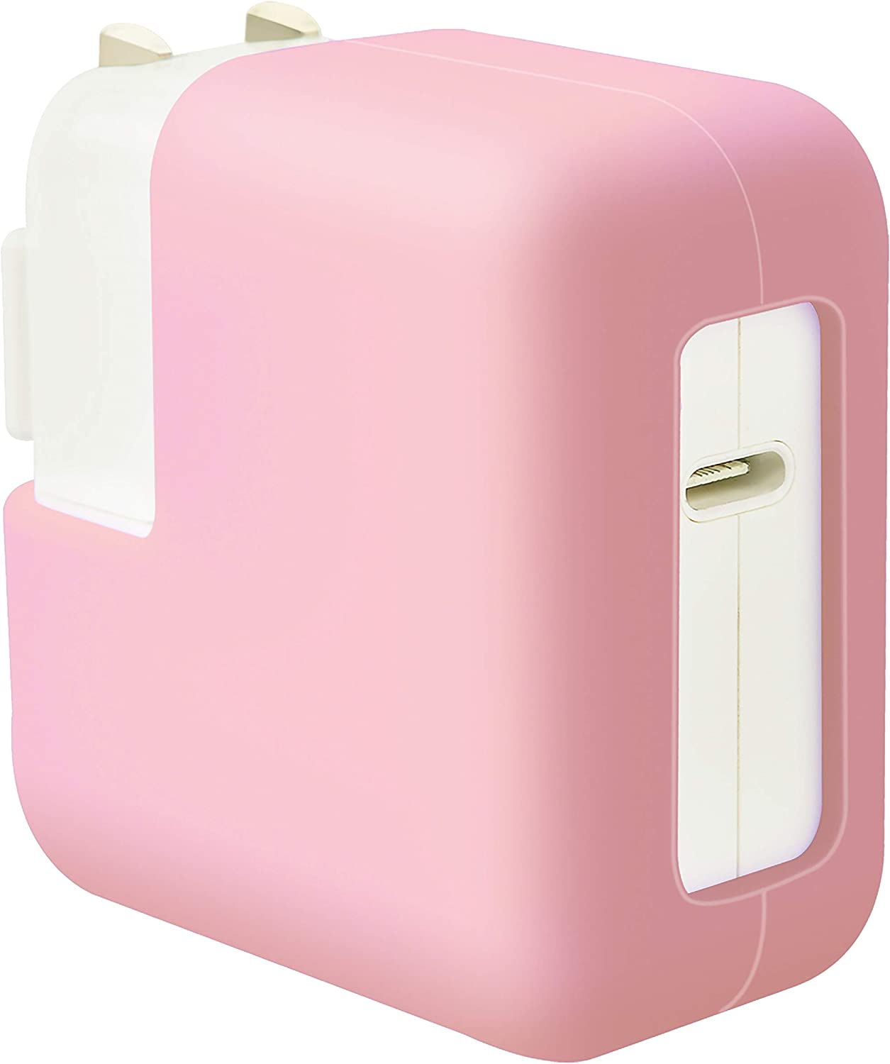 LuvCase MacBook Charger Case Soft Silicone Cover for MacBook Pro 13 Inch A2251/A2289/A1425/A2159/A1989/A1708/A1706/A1502 [Full Protection] (Pink)
