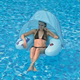 JILONG water sofa with canopy - Sillón hinchable con suelo de rejilla y parasol, 103 x 96 x 38 cm