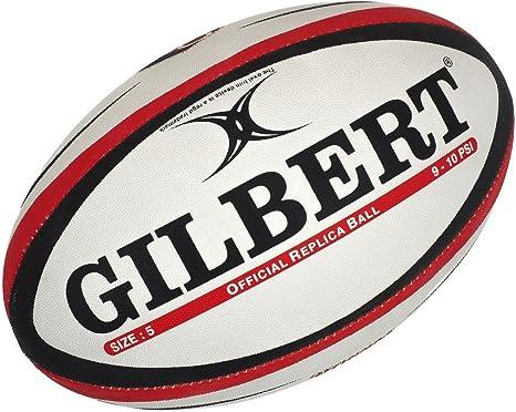 GILBERT Ballon de rugby REPLICA - Oyonnax - Taille 5: Amazon.es ...