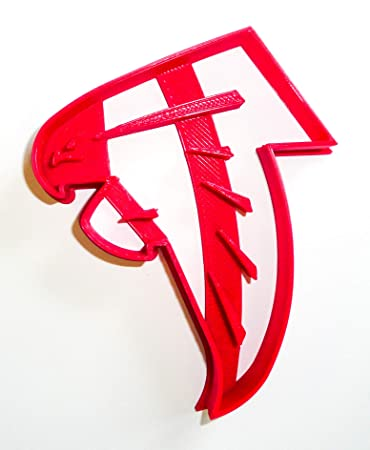 """ATLANTA FALCONS NFL FOOTBALL LOGO SPECIAL OCCASION FONDANT STAMP CUTTER OR CUPCAKE TOPPER SIZE 1.75"""""""
