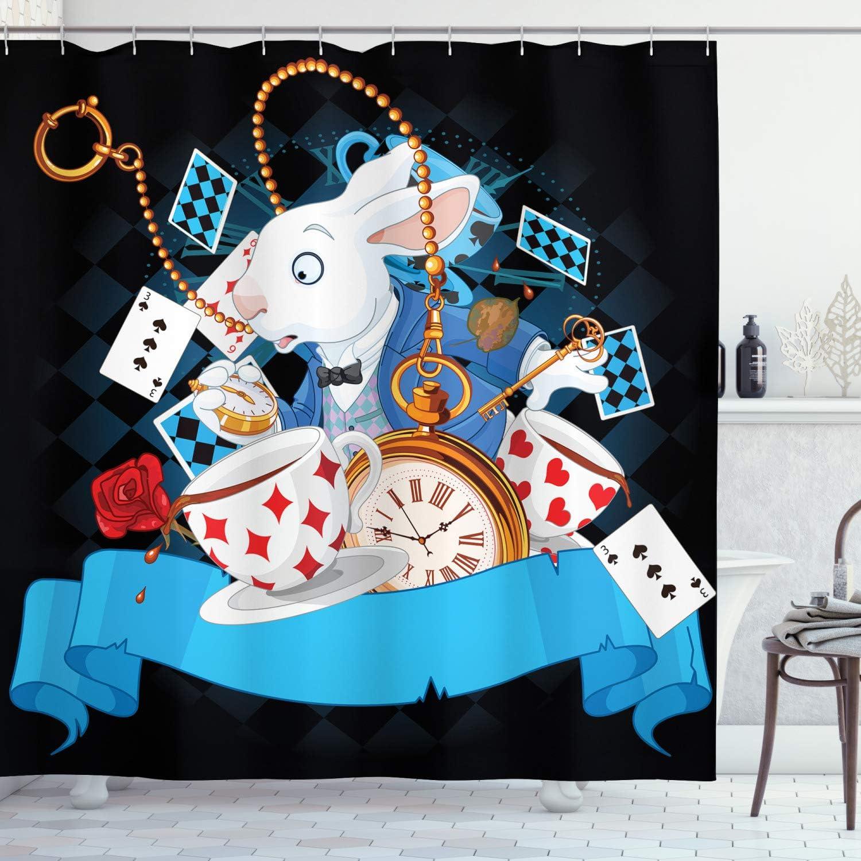 Amazon.com: Ambesonne Alice in Wonderland Shower Curtain, Rabbit