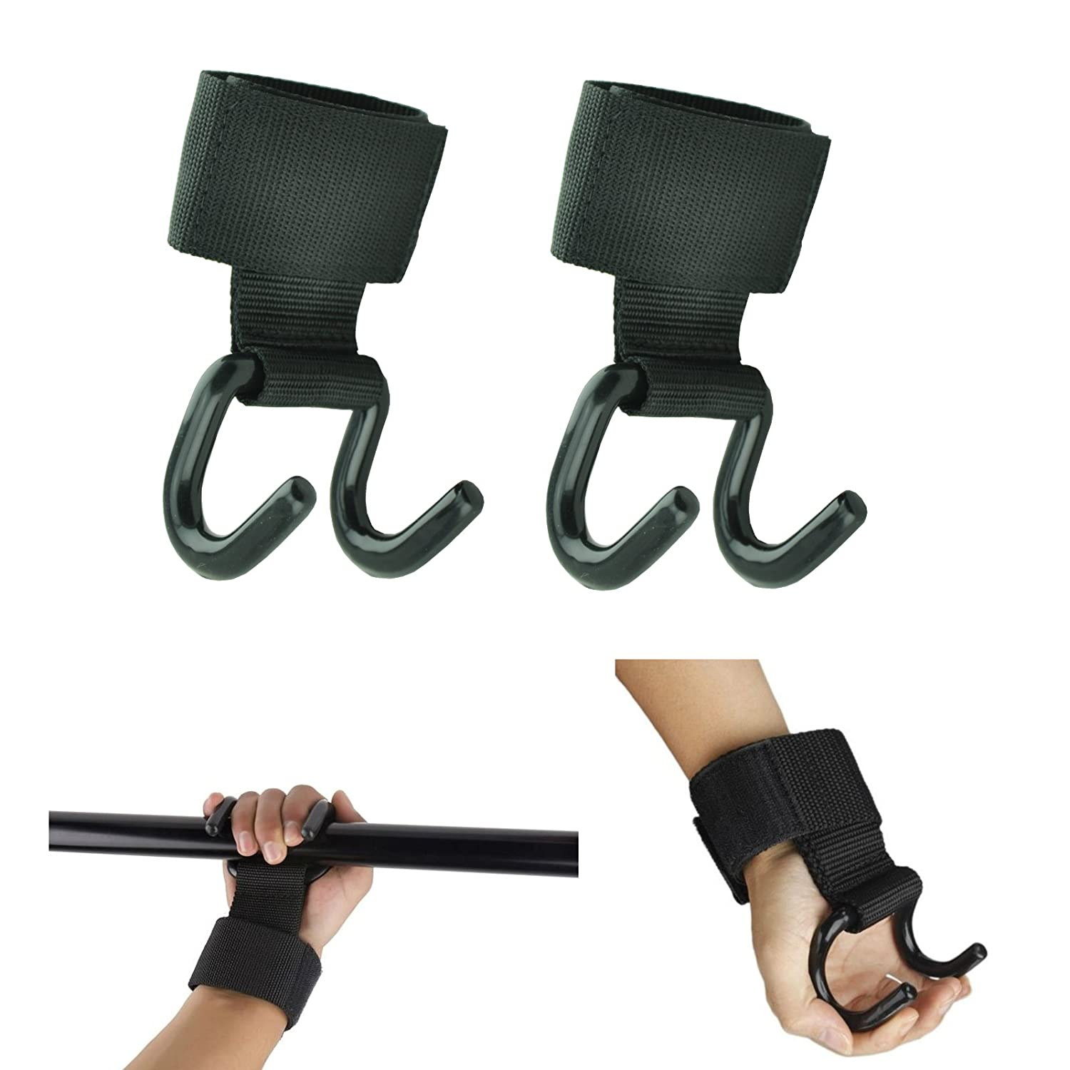 MaxxMMA Gym Power Weight Lifting Grips Hooks Straps Wrist Support 1 Pair