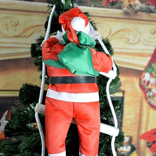 KIKIGOAL 30 cm 1 Personas Subiendo Escalera Santa Muñeca Decoración Suministros Vacaciones Regalos árbol de Navidad Colgante: Amazon.es: Hogar