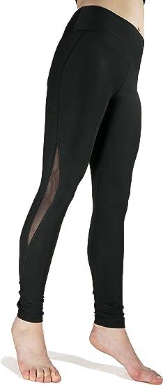 WORKOUT BLACK LADIES POCKET XS-4XL PANTS MOISTURE WICKING BREATHABLE YOGA