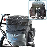 H&S® Mountain Cycle Bike Bicycle Pannier Saddle Rear Rack Travel Bag Pack - L