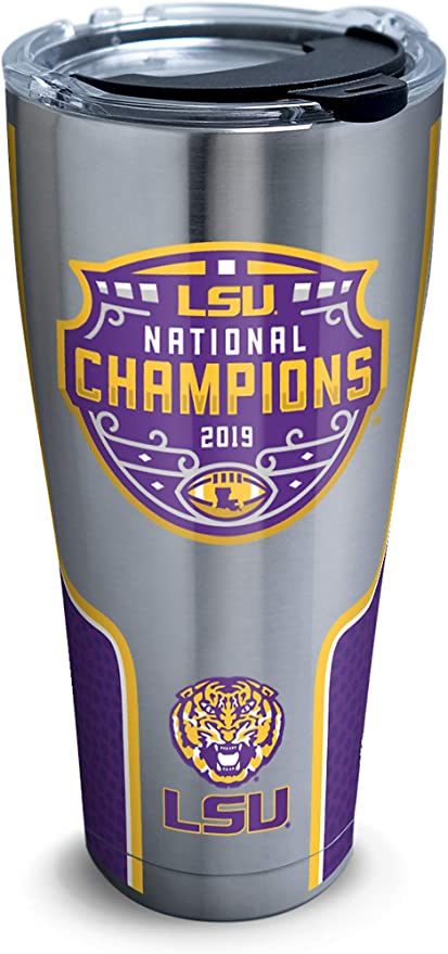 Clear 16 oz Tervis NCAA LSU Tigers 2019 National Champions Tumbler /& Lid