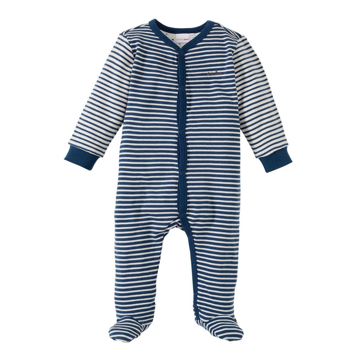 Bornino Baby Schlafanzug/Strampler / Schlafstrampler/Overall / Nachtwäsche / 100% Baumwolle
