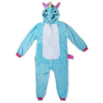 Katara Pijama con Capucha para niños Unicornio, Color Azul, 3-5 años (