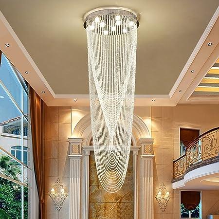 Buena Araña Doble Escalera Sello Luz Cristal Colgante Línea Moderna Escalera Escalera Luz De Techo Cristal Lámpara De Iluminación Para Sala (Tamaño : D40*H80CM): Amazon.es: Hogar