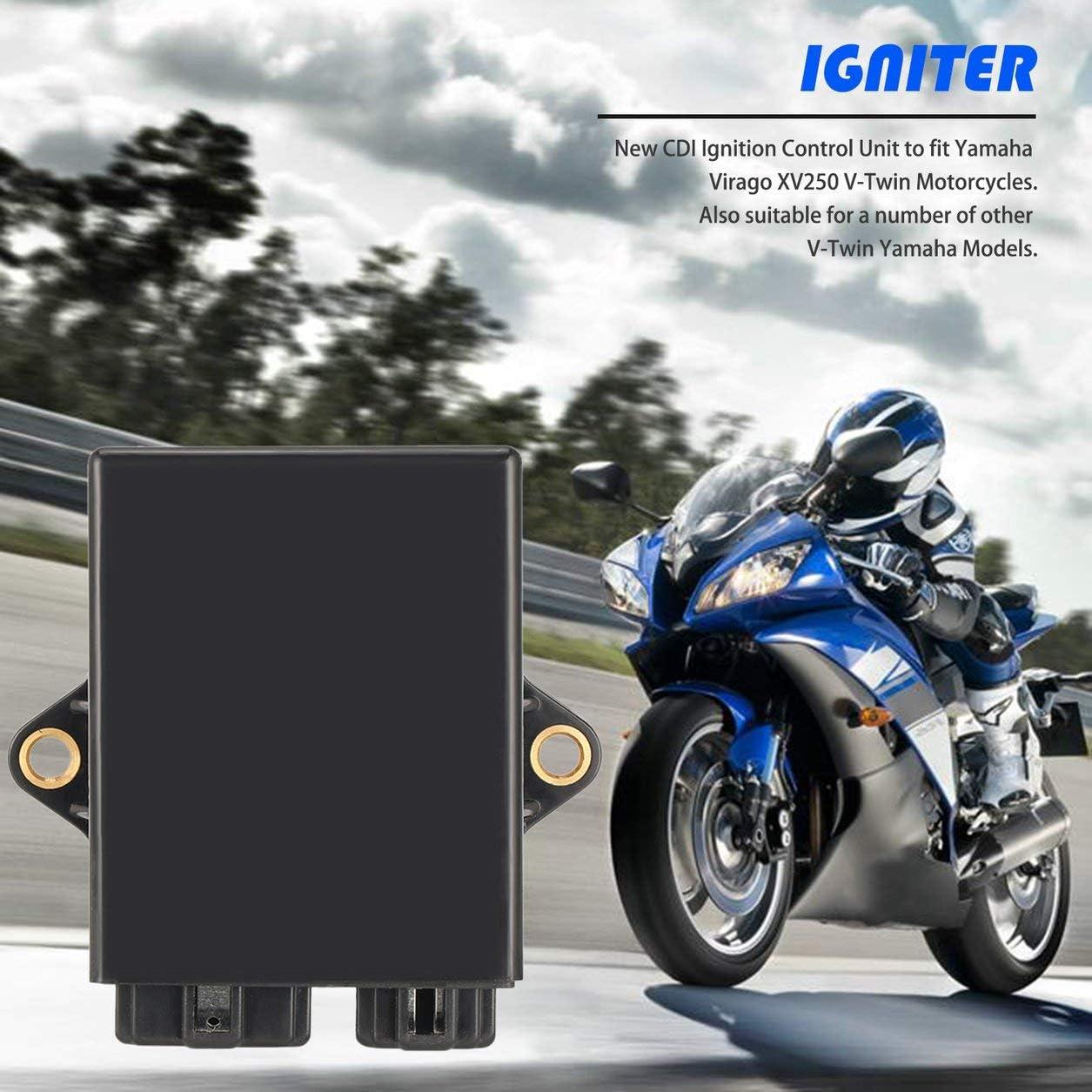 Couleur: Noir calculateur V-Star 250cc Dailyinshop Unit/é CDI pour Yamaha Virago XV250