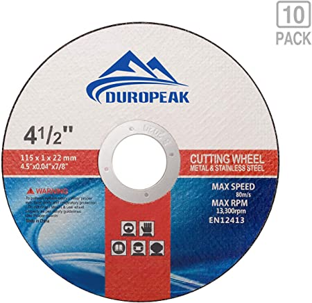 """50 Pcs Pack 4.5/"""" 1//16/"""" Cut-off Wheels 4.5 Cutting Discs Stainless Steel /& Metal"""