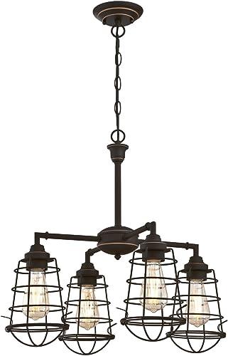 Westinghouse Lighting 6367000 Nolan Four-Light Indoor Chandelier/Semi Flush Mount Ceiling Light