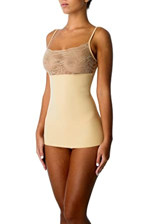 e39556409fe9f CoverGirl Slimming Cami Tank Top with Lace Seamless Tummy Firm Control  Shapewear for Women(Small