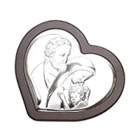 Icona rivestito in argento, da 23X22 cm