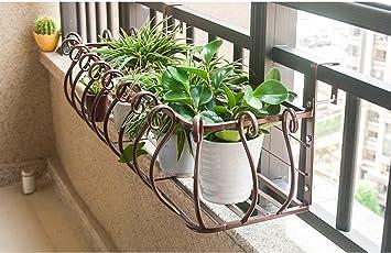 LYTSM® Blumenregale, Eisen Europäischer Stil Balkon Geländer Zaun  Wohnzimmer Innen Wand Hängen Hängen Blumentopf