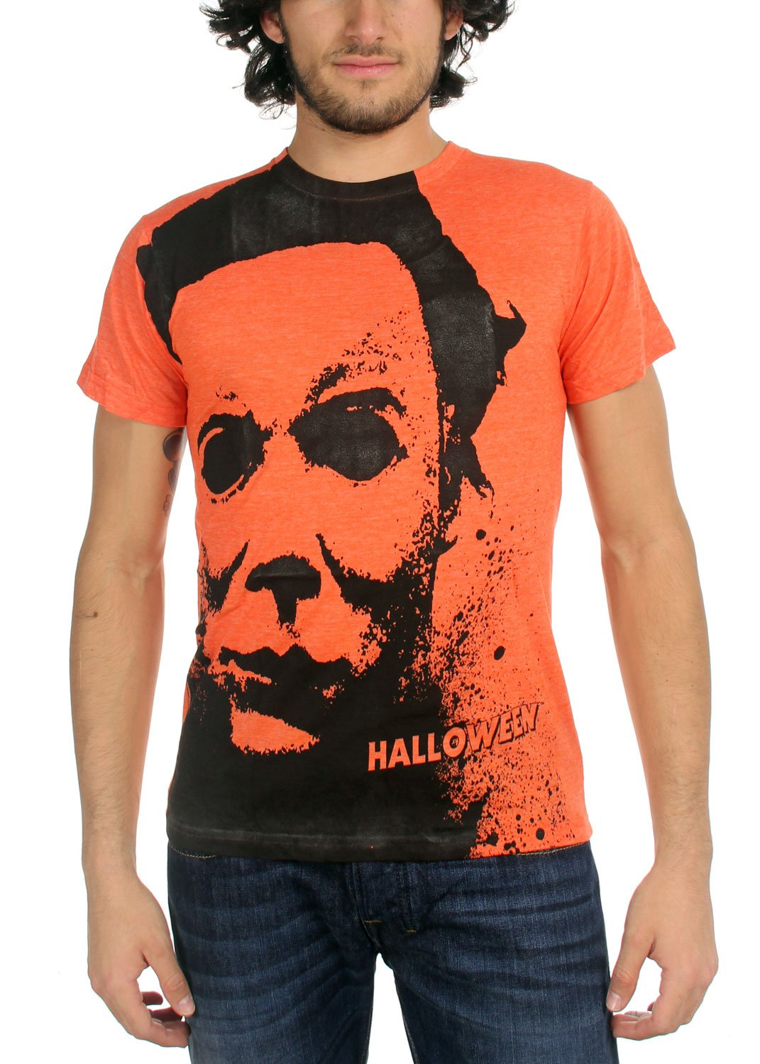 Halloween - Splatter Mask (Slim Fit) T-Shirt Size L