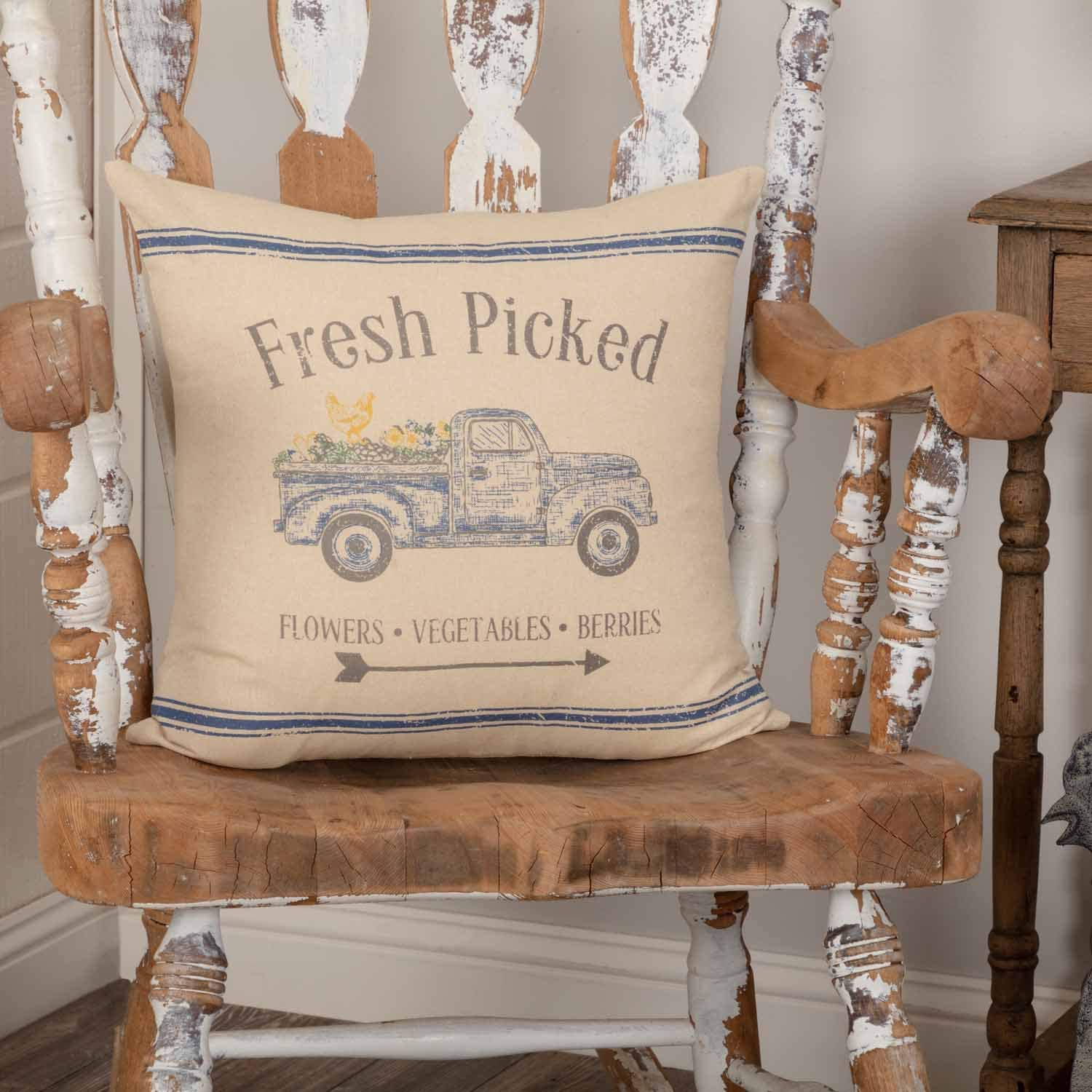 Piper Classics Fresh Picked Throw Pillow Cover, 18