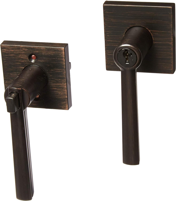 Kwikset 156MRLSQT-11PS Montreal Square Entry Door Lock Smart Key Venetian Bronze Finish