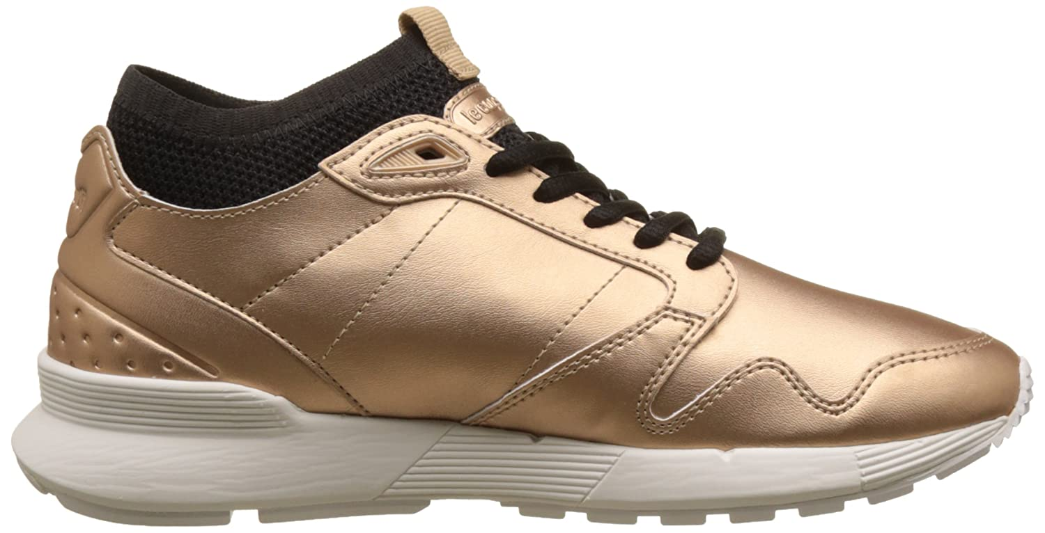Womens Omicron W S Lea Metallic Bass Trainers, Rose Gold/Black Le Coq Sportif