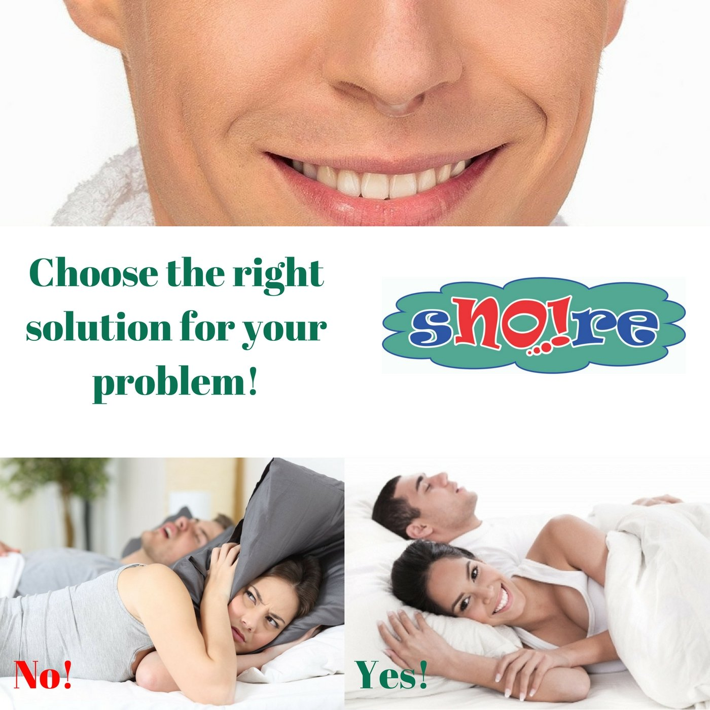 SNO!re: The Original 2 in 1 Premium Anti Snoring Devices; Set of 4 Nose Vents Cones and 1 Travel case; Sleep Aid Solution for Ease Breathing, Maximizes Airflow, Prevents Snoring and Snore Stop