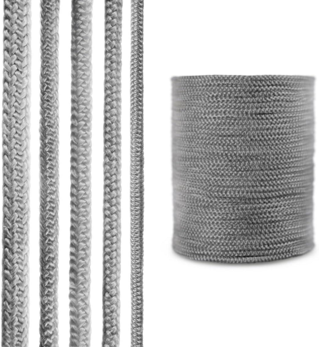 STEIGNER Corde en Fibre de Verre SKD02-8 8 mm Scellant Gris Fonc/é R/ésistante /à la Temp/érature jusqu/à 550 /° C 5 m