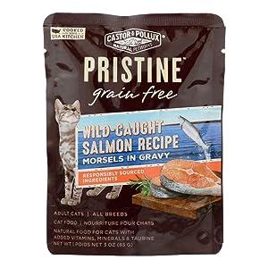 Castor & Pollux Cat Food Can Gluten Free Salm Mo, 3 oz