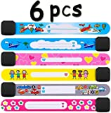 ID Bands for Kids (6 Pack) Child Safety ID Wristband Emergency Bracelet for Child, Waterproof Reusable SOS Bracelet for Boys Girls JAANY
