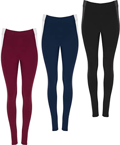 ROLY Pack 3 | Mallas de Mujer Cintura Alta | Diseño Dos colores | Pantalón Deportivo Fitness/Running | Estampado | Algodón: Amazon.es: Ropa y accesorios