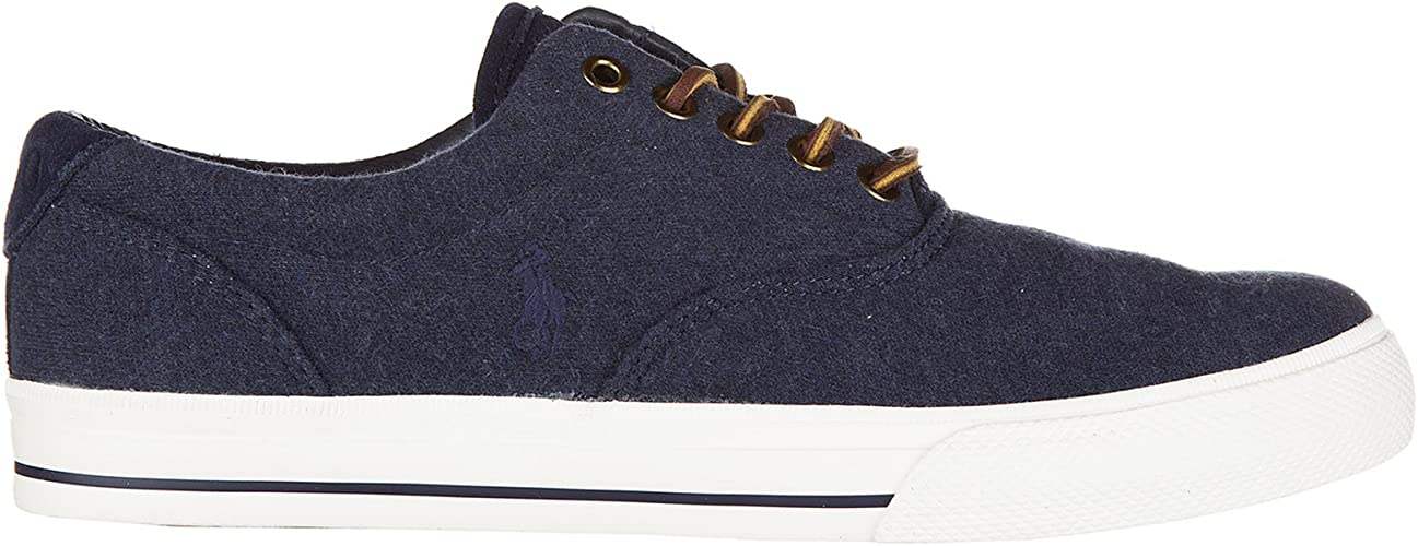 Polo Ralph Lauren Zapatillas Hombre Dark Blue Heath: Amazon.es ...