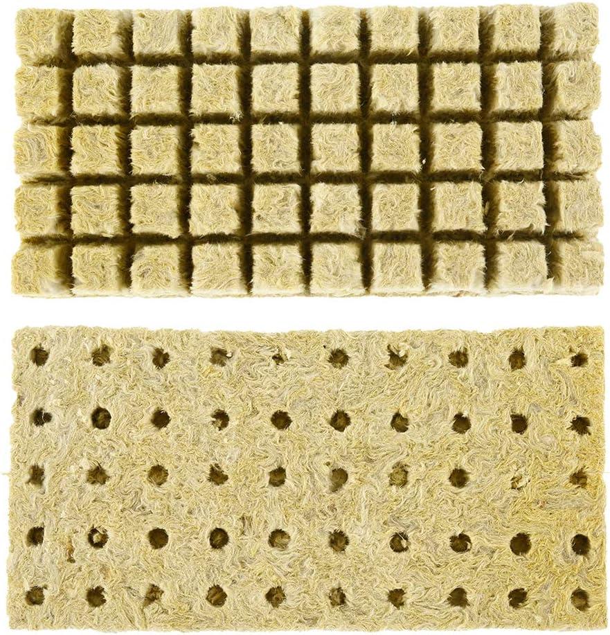 30x30x40mm Grodan Cubes Grodan Rockwool Cubes Hydroponics Block Propagation Cloning Soilless Cultivation Compress Base Anemoner 50Pcs Rockwool Cubes