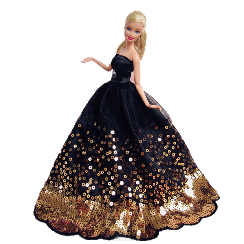Amazon.es: BEETEST Barbie Muñecas Fashion Accesorios Hermosa hada niña muñecas juguetes accesorios para muñecas trajes vestidos de fiesta vestido de Novia ...
