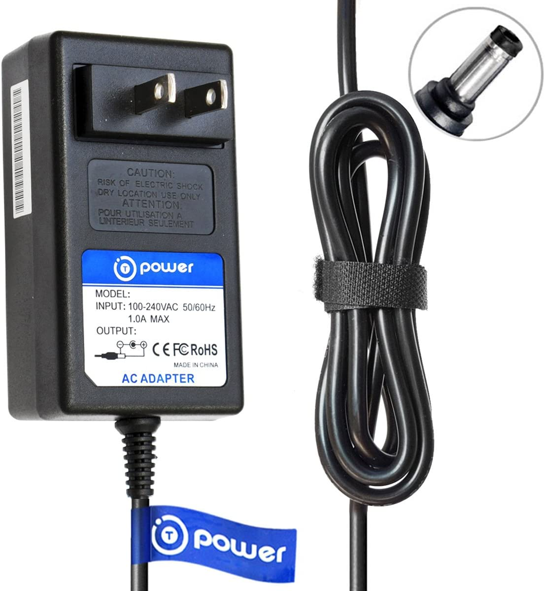 T POWER 19V Ac Dc Adapter Charger Compatible with Eufy RoboVac 11 11+ 11S 30 Series & Pure Clean Smart Robotic Vacuum Cleaner Model T2102 PUCRC15 PUCRC25 PUCRC26B PUCRC90 Power Supply