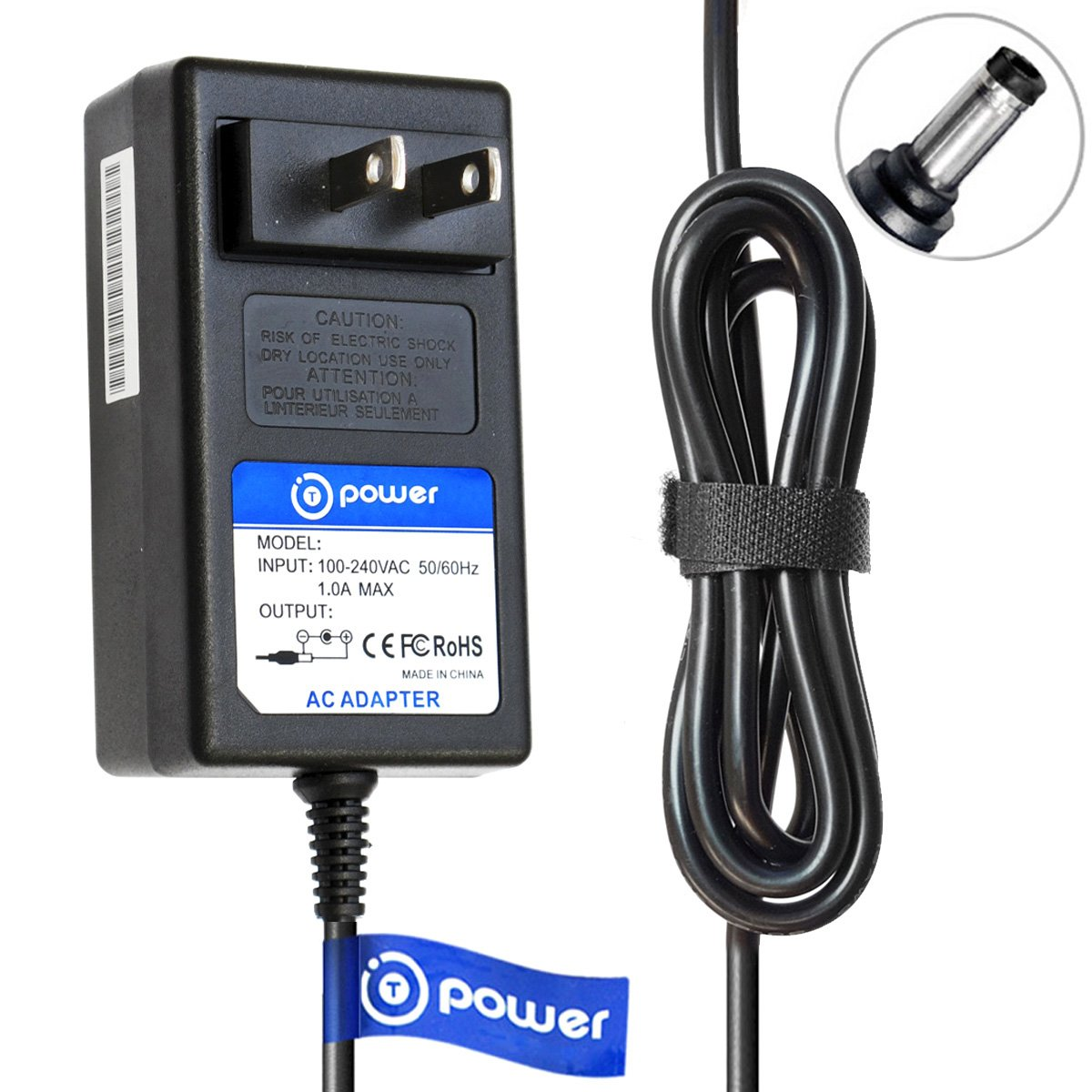T-Power (TM) (6.6ft Long Cable) AC/DC AC Adapter for Yamaha PSR170 PSR-275 PSR-260 PSR260 P/N: PSR170 PSR-275 PSR-260 PSR260 Electronic Digital Piano Midi Keyboard Spare Charger Power Plug Cord