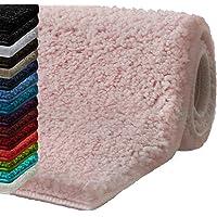 casa pura Tapis de Bain Antidérapant - Tapis de Douche | Tapis Salle de Bain, WC, Toilette, Sortie de Douche | Epais, Absorbant & Moelleux | Microfibre Nombreuses Tailles