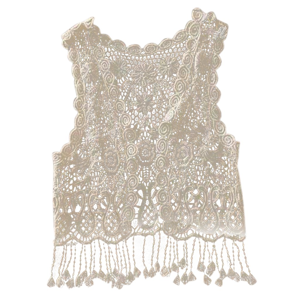 Amazoncom Baby Girls Crochet Lace Hollow Out Sleeveless Tops