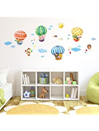 Charmant Decowall DA 1406B Animal Hot Air Balloons Kids Wall Decals Wall Stickers  Peel And Stick
