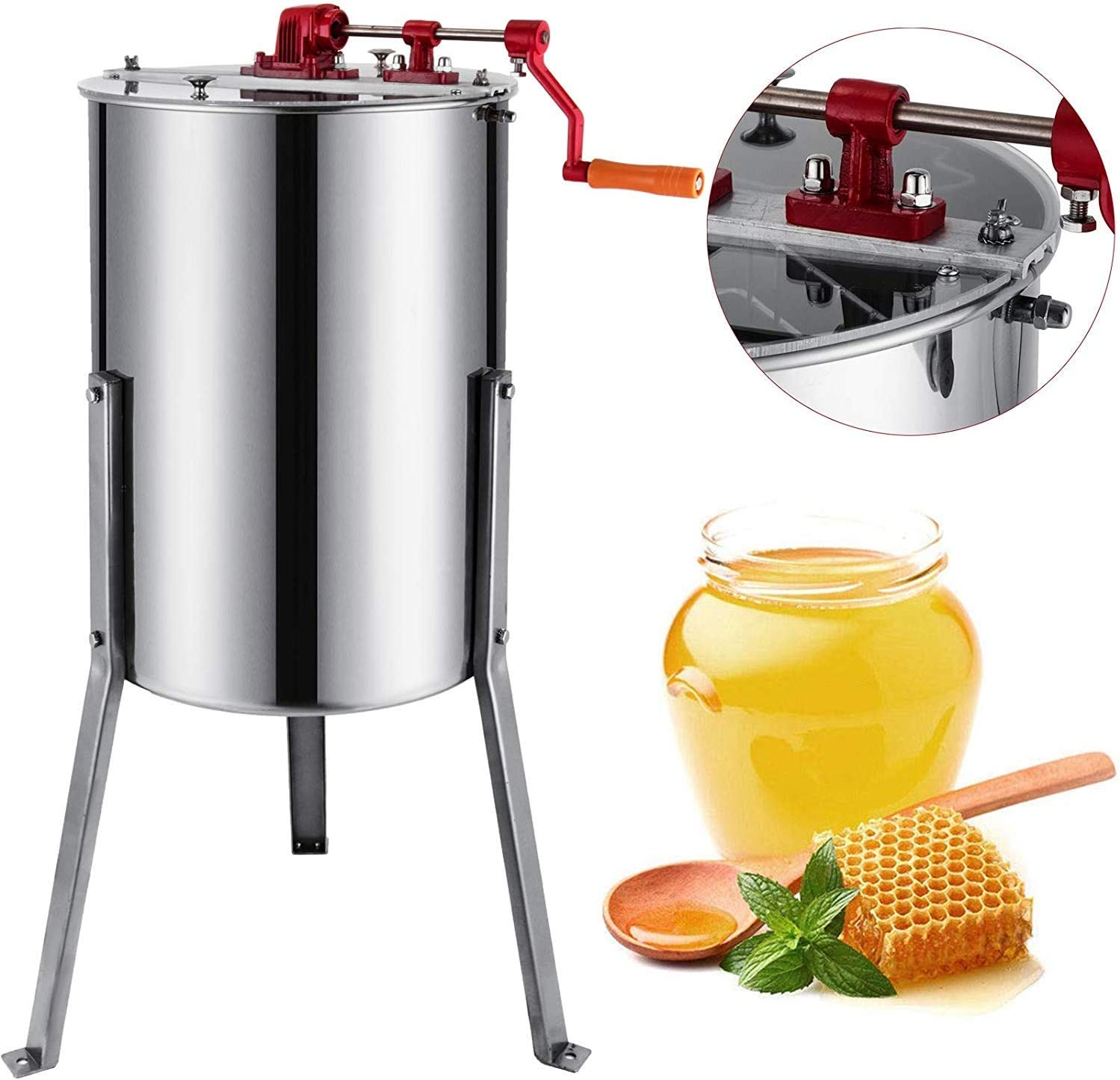 foodking Extractor de miel Extractor de miel (Equipo Panal Spinner ...