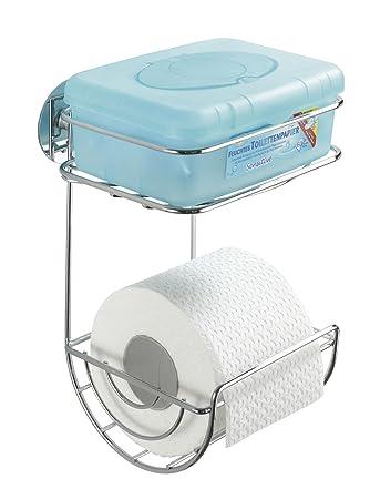 Wenko 18773100 Turbo-Loc WC-Rollenhalter mit Ablage - Befestigen ...