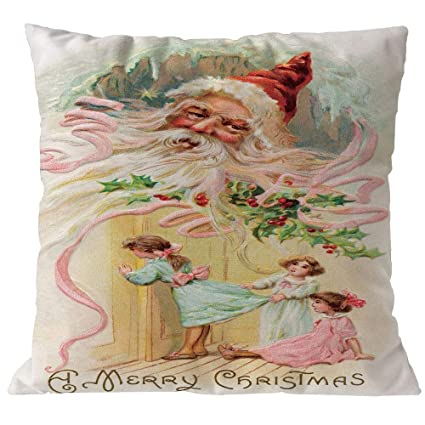 Amazon.com: FelixStore Merry Christmas Pillowcases Linen ...
