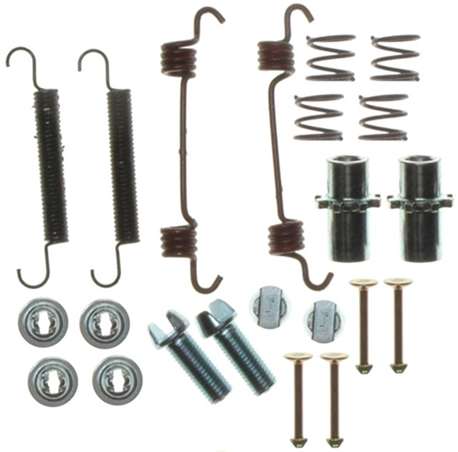 Pins ACDelco 18K1207 Professional Rear Parking Brake Hardware Kit with Springs Adjusters and Retainers