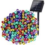 Joomer Solar Christmas Lights 72ft 200 LED 8 Modes Solar String Lights Waterproof Solar Fairy Lights for Garden, Patio…