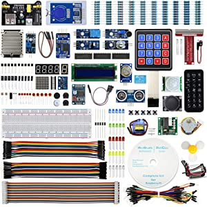 REXQualis Upgraded Complete Starter Kit for Raspberry Pi 4 B 3 B+ with Detailed Tutorials, Support Python C,Learn Electronics and Programming for Raspberry Pi Beginners