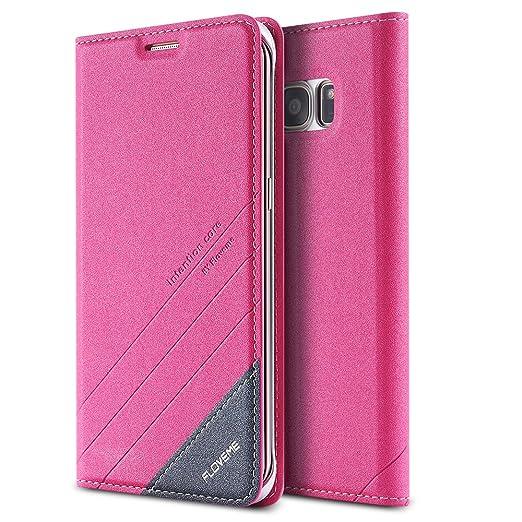 35 opinioni per FLOVEME Cover per Samsung S7 edge Custodia Portafoglio a Libro Flip Magnetico