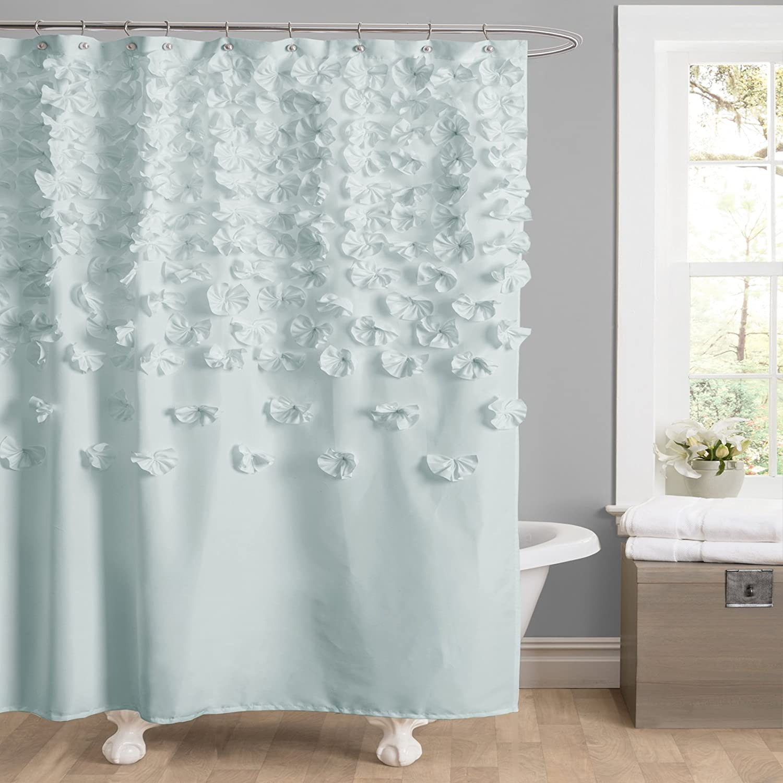 Amazon.com: Lush Decor Lucia Shower Curtain, 72-Inch by 72-Inch ...
