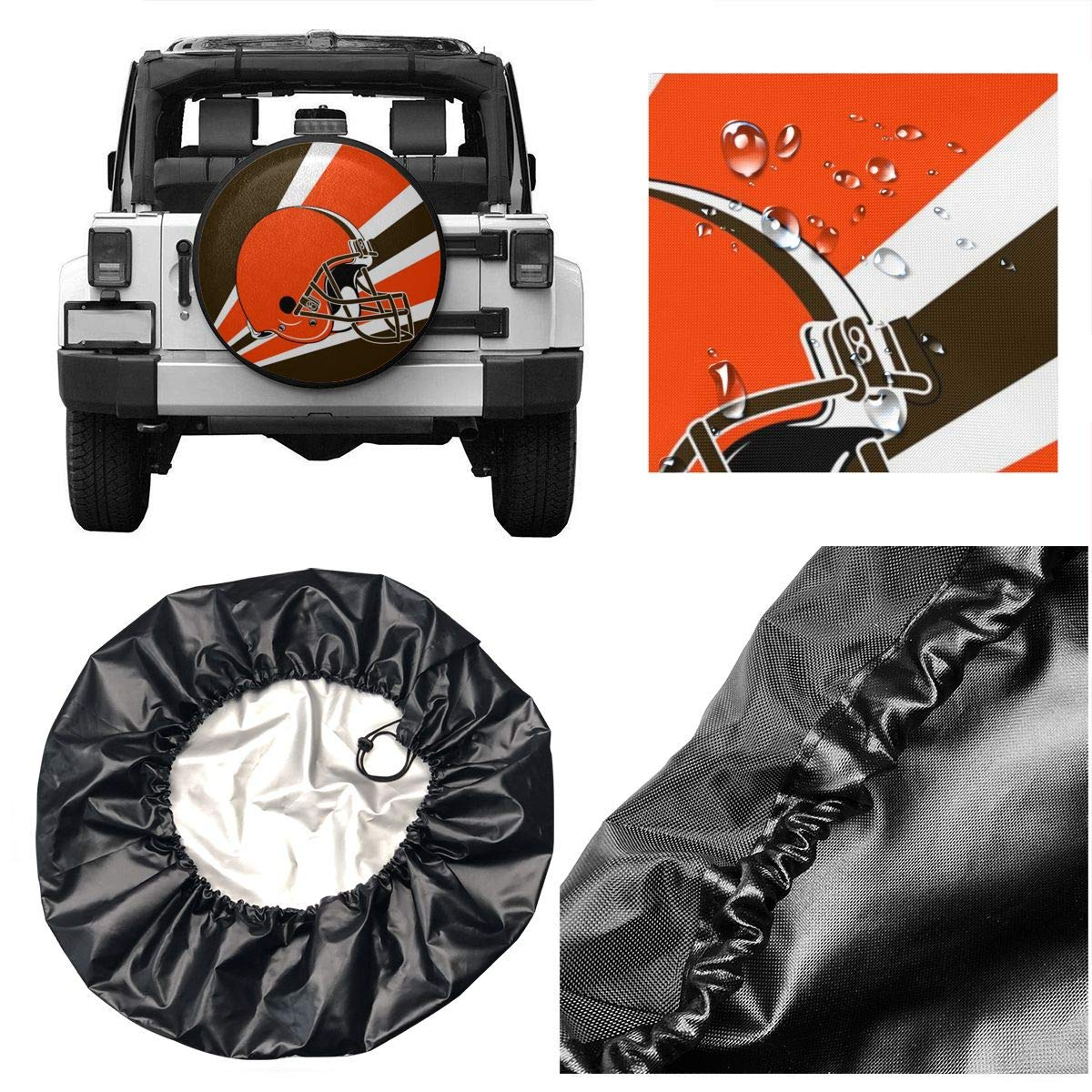 Marrytiny Custom Spare Tire Cover Tennessee Titans Polyester Weatherproof Potable Universal Spare Wheel Tire Cover Protectors for Jeep Trailer RV SUV Truck and Many Vehicle