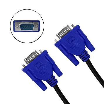 Eaxus 1,80 metros VGA Cable, conector de ordenadores/Portátiles con el monitor, TV o proyector.
