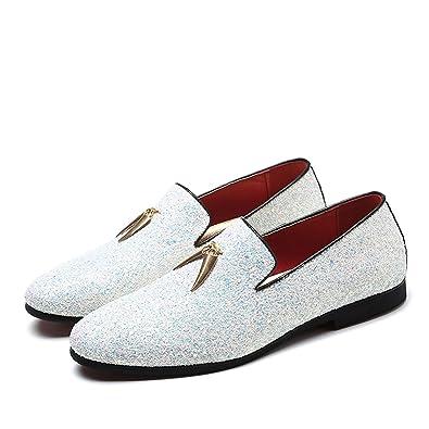 b49654a57989ef Successg Luxus Männer Loafers Schuhe Slip on Mokassins Plus Größe 38-48  Glitters Bling Stilvolle Wohnungen Schuhe Mann Party Schuhe  Amazon.de   Schuhe   ...
