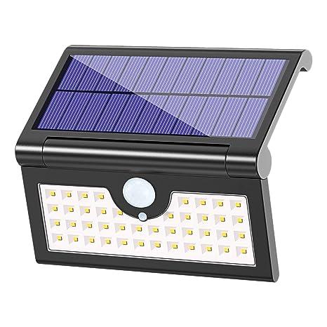 Luz Solar Plegable (250° Ajustable), Bovon 42 LED Foco Solar Exterior con