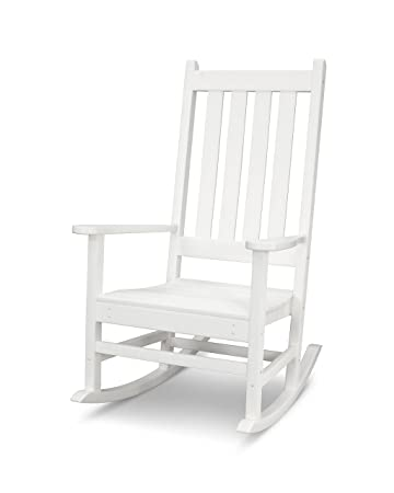 amazon com polywood vineyard porch rocking chair white garden
