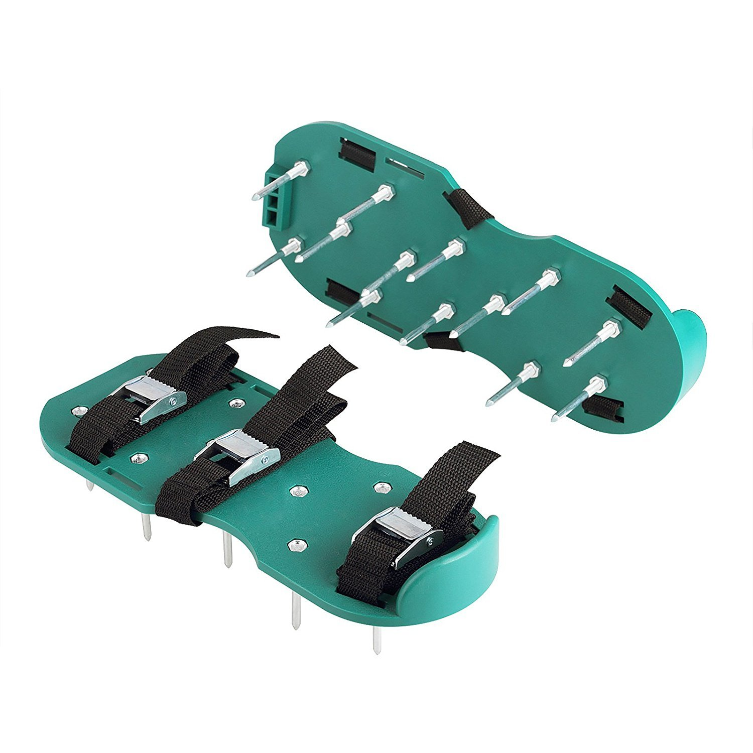 Itian Lawn Aerator Spike Shoes-For Effectively Aerating Lawn Soil-Comes with 3 Adjustable Straps with Metallic Buckles-Universal Size that Fits all-For a Greener and Healthier Garden or Yard